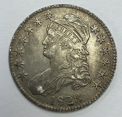 1823 Philadelphia Mint Silver Capped Bust Half Dollar - Better High Grade
