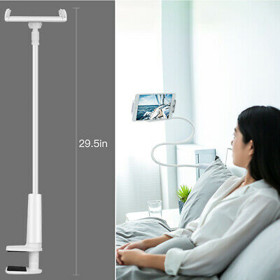 """Flexible Gooseneck Tablet Phone Lazy Stand Table Bracket for 4-11"""" iPhone, iPad"""
