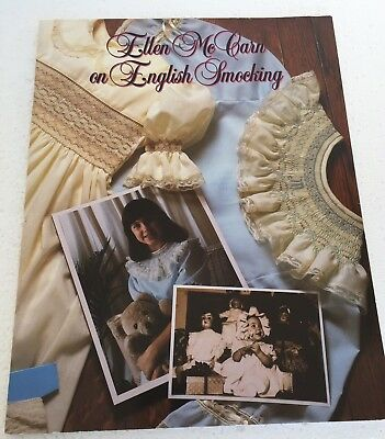 Ellen McCarn On English Smocking 1986 Instructional Booklet Needlework Stitch