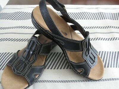 97f5913a4d1 New Clarks Womens Leisa Vine Leather Open Toe Casual Ankle Strap Sandals