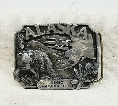 Vintage ALASKA State #157 Limited Edition 1982 Commemorative Pewter Belt Buckle