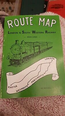 ROUTE MAP LONDON & SOUTH WESTERN RAILWAY 1st UK PAPERBACK 1978