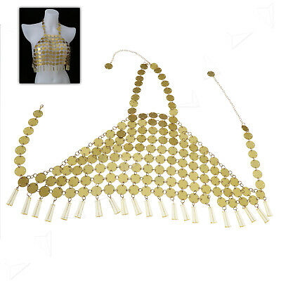 051081cc54 Festival Boho Mermaid Mirror Harness Crop Top Body Chain Sequin Bralet Beach