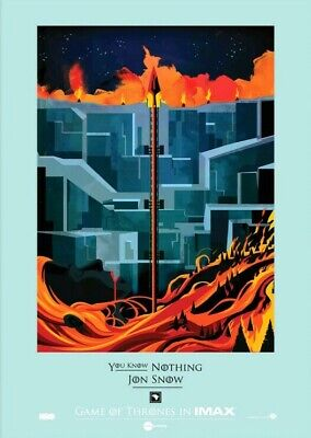 Game Of Thrones IMAX Poster RARE
