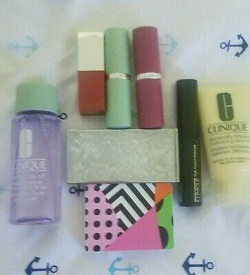 CLINIQUE Gift with Purchase 8 Pc Makeup Lot Full and Travel size Beauty** NEW