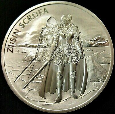 2019 South Korea Zi:Sin Series Scrofa GHOST 1oz. Silver Medal - Limited 10,000
