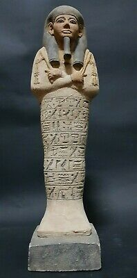 ANCIENT EGYPTIAN ANTIQUES USHABTI SHABTI With Hieroglyphics Hand Carved STONE BC