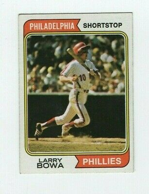 Verzamelingen 1974 Topps #255 Larry Bowa PSA 7 NM Philadelphia Phillies Baseball Card