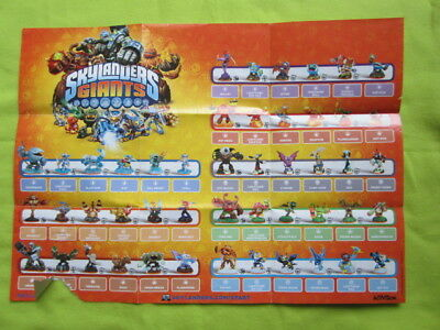Skylanders Giants mini poster characters Nintendo Playstation