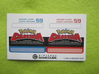 Nintendo Gamecube Pokemon memory card stickers