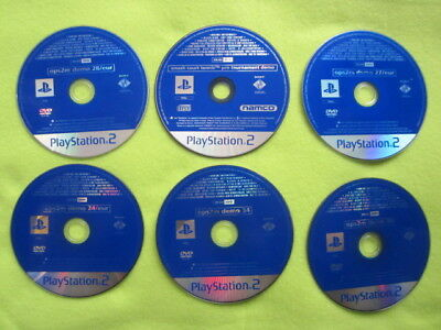 6 PS2 Playstation 2 demo discs