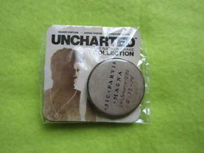 Uncharted (Drake collection) collectable promo pin PS4 Playstation
