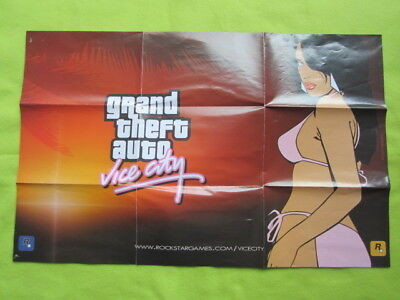 GTA Grand Theft Auto Vice City game map g.t.a. Playstation Xbox PC