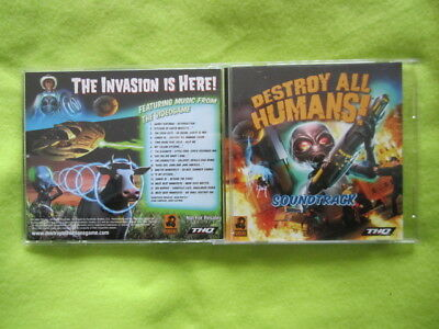 Destroy all humans soundtrack game CD