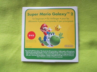 Super Mario Galaxy 2 instruction DVD Nintendo Wii