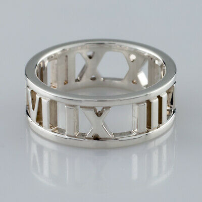 03d6b5498 Tiffany & Co. Sterling Silver Atlas Cutout Band Ring Size 5.75 Retail $260