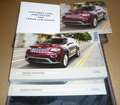 2017 Jeep Grand Cherokee User Guide Owners Manual Set Case 17 Srt Loredo Summit