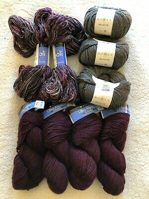 Large Yarn Lot - Berroco Boboli Ultra Alpaca Rowan Big Wool Silk