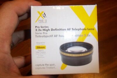Xit Pro Series Photo 2.2x High Definition AF Telephoto Lens 58mm & Case