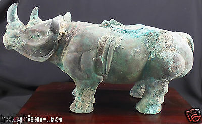 RARE Ancient Chinese Bronze Rhinoceros Wine Storage Vessel (Zun) Shang Dyn.