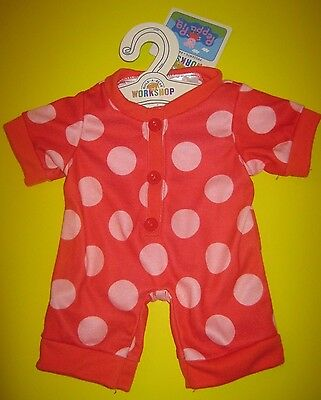 BUILD-A-BEAR RED PINK POLKA DOT SLEEPER Outfit Pajamas for Peppa Pig