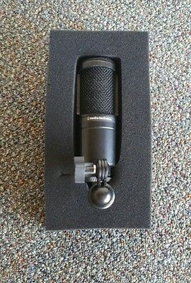 Audio Technica AT2020 Cardioid Black Condenser Microphone - FREE SHIPPING