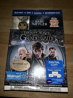 New Fantastic Beasts The Crimes Of Grindelwald Blu Ray Dvd + Pop Baby Niffler