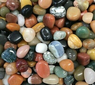 "1 Pound of Mixed Crystals / Tumble Stones ""India Mix"""