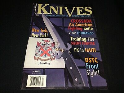 """Fighting Knives"" Magazine July 1995 HTF Jot Khalsa, Crossada, Bowie, Haiti ++"