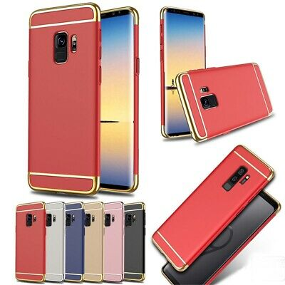 For Samsung Galaxy S9 S8 PLUS S6 Ultra Slim Electroplate 3 IN 1 Armor Case Cover