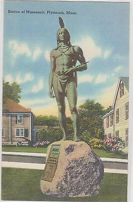 Statue of Massasoit, Plymouth Mass -   #31