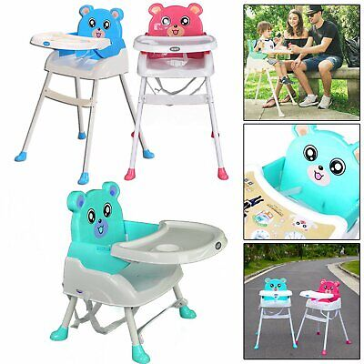 Foldable Baby High Snack Portable / Travel Adjustable Table Booster Seat / Chair