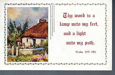 Vintage - Collectable PSALM CARD - psalm 119: 105