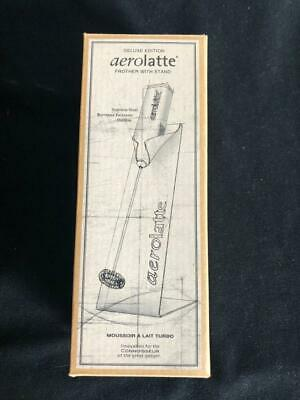 RH AEROLATTE new in box by Restoration Hardware Milk Frother with Stand in BOX