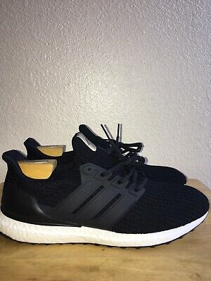 ee263ac9939 ADIDAS UltraBoost Ultra Boost 4.0 Men s Size 13 Black White Running Shoes  BB6166
