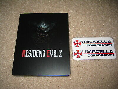 PS4 / Xbox One: Resident Evil 2 Remake Steelbook Case + Umbrella Corp. Decals