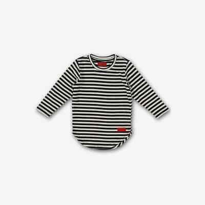 2a7a92adbc5ad Haus Of Jr Youth Short Sleeve Tees HARRY-ELONGATED STRIPE TEE BLACK SIZE 5T