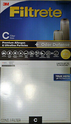 Two 3M True HEPA Filtrete Air Purifier Filter C Size for Idylis Device FAPF-C-4