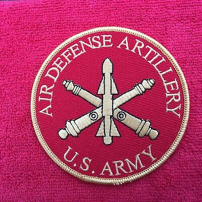 Us Army Air Defense Artillery Patch Is Red In Color