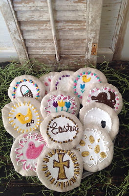 Primitive Farmhouse Forever Easter Cookies Set of 12 Handmade by Primigram
