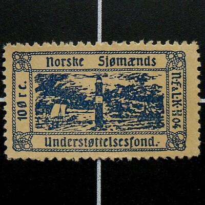 Norway NAVY Seaman's Support Fund stamp-1904-MNH-RARE-Norwegian fiscal revenue