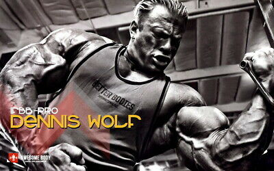 "006 Dennis Wolf - Building Great Muscle Player GYM 22""x14"" poster"