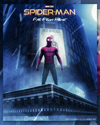 "024 Spider Man Far From Home Super Hero Action Movie 24/""x29/"" Poster"
