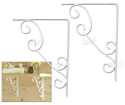 Pair Of Cast Iron Wall Bracket Shelf Cistern Toilet Vintage Style