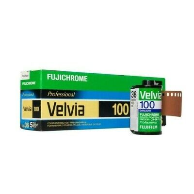 5 rolls Fuji Fujichrome Velvia 100 RVP 36 35mm Pro Color  Film exp 3/2019