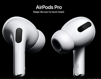 Apple AirPods PRO Noise Cancelling White Wireless Earbuds 2019 NEW FAST SHIP
