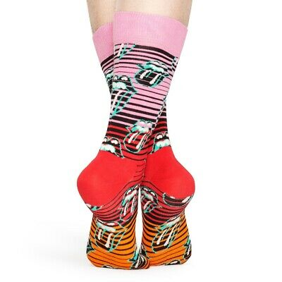 Happy Socks Neu Unisex Rolling Stones Ruby Tuesday Socken - Multi mit Etikett