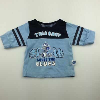 Girls,Boys size 0000, NSW Rugby League, official blues cotton top, EUC