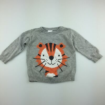 Boys size 00, Tiny Little Wonders, cute knitted cotton jumper/ sweater, GUC