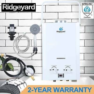 Ridgeyard Hot Water Heater Portable Shower Camping LPG Outdoor Instant Boiler
